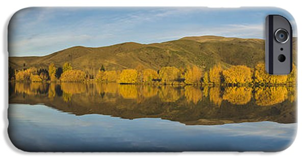 Willow Lake iPhone Cases - Autumn Reflections Wairepo Arm iPhone Case by Robert Green