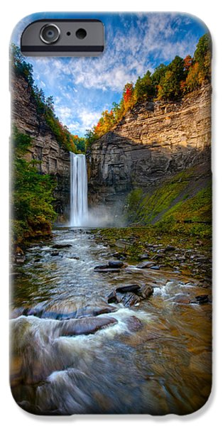 Taughannock Falls iPhone Cases - Autumn Riches iPhone Case by Neil Shapiro