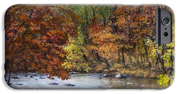 Jack Skinner iPhone Cases - Autumn River iPhone Case by Jack Skinner