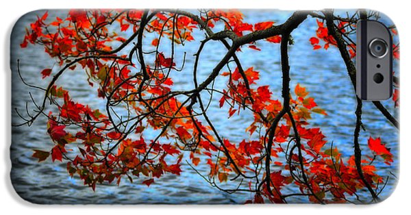 Fall Scenes iPhone Cases - Autumn scene - Little Pond  New Hampshire iPhone Case by Thomas Schoeller