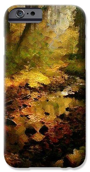 Autumn sunrays iPhone Case by Gun Legler