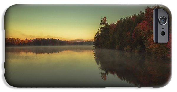 New Hampshire Fall Scenes iPhone Cases - Autumn sunrise iPhone Case by Chris Fletcher