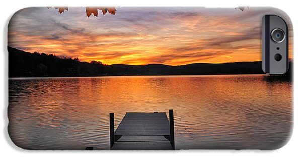 Kent Connecticut iPhone Cases - Autumn Sunset iPhone Case by Thomas Schoeller