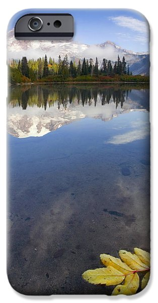 Mt Rainier iPhone Cases - Autumn Suspended iPhone Case by Mike  Dawson