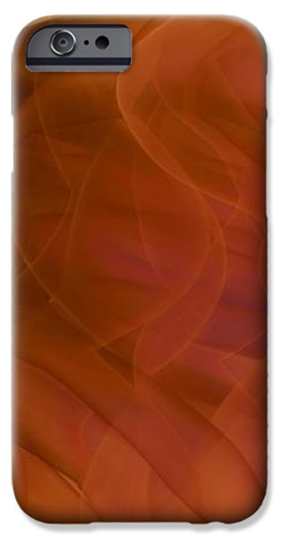 Gina Lee Manley iPhone Cases - Autumn Swirl Abstract iPhone Case by Gina Lee Manley