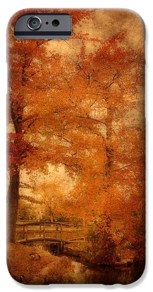 Autumn Tapestry - Lake Carasaljo iPhone Case by Angie Tirado