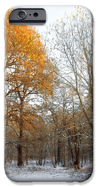 Wolf Picture Art iPhone Cases - Autumn Tree iPhone Case by Svetlana Sewell