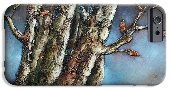 Old Reliefs iPhone Cases - Autumn Trees iPhone Case by Mehdi Ashlaghi