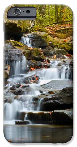 Autumn iPhone Cases - Autumn Waterfall iPhone Case by Shelby  Young
