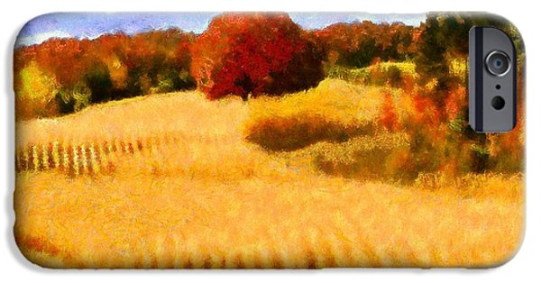 Virtual iPhone Cases - Autumn Wheat Field iPhone Case by Caito Junqueira