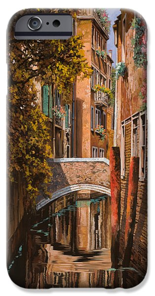 Venice iPhone Cases - autunno a Venezia iPhone Case by Guido Borelli