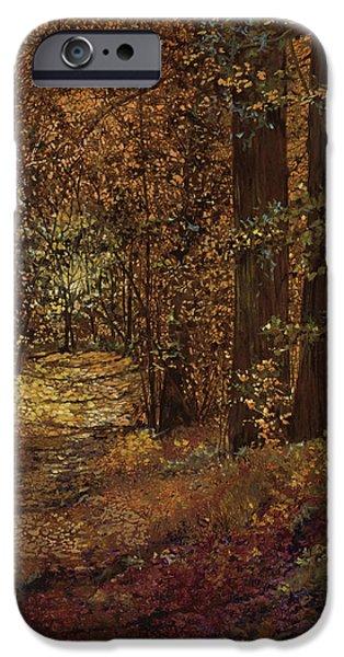 autunno nei boschi iPhone Case by Guido Borelli