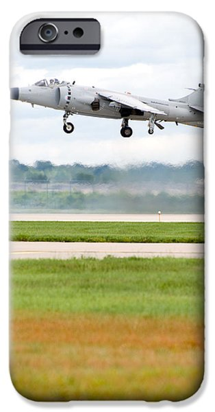 Flight iPhone Cases - AV-8 Harrier iPhone Case by Sebastian Musial