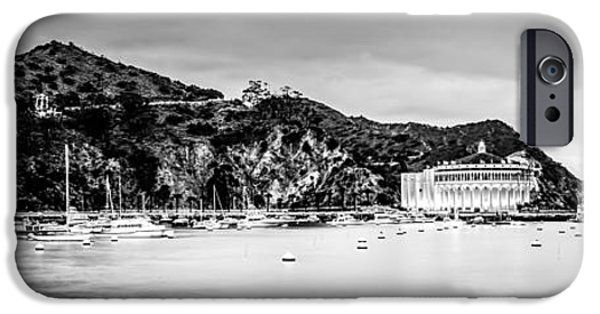 Santa iPhone Cases - Avalon Bay Black and White Panorama Picture iPhone Case by Paul Velgos