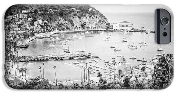 Casino Pier iPhone Cases - Avalon California Black and White Photo iPhone Case by Paul Velgos