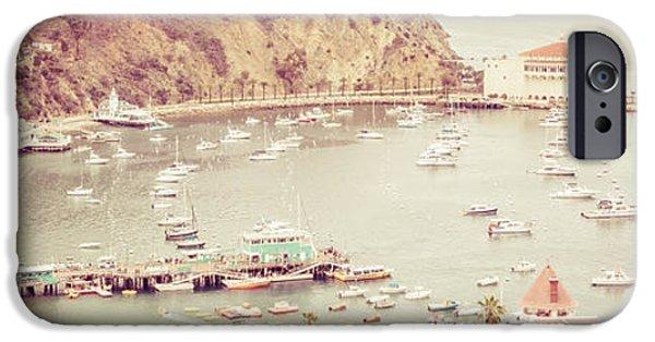 Casino Pier iPhone Cases - Avalon California Catalina Island Panorama Photo iPhone Case by Paul Velgos