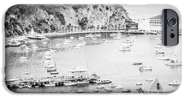 Casino Pier iPhone Cases - Avalon California Panoramic Picture of Catalina Island iPhone Case by Paul Velgos
