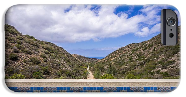 Wrigley iPhone Cases - Avalon Canyon at the Wrigley Memorial iPhone Case by Paul Velgos