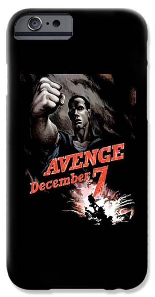 Warship iPhone Cases - Avenge December 7th iPhone Case by War Is Hell Store