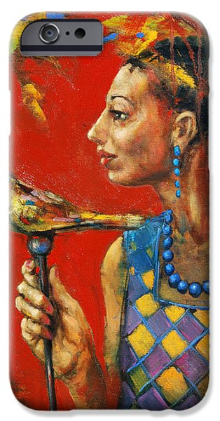 Young Paintings iPhone Cases - Aviary Queen iPhone Case by Michal Kwarciak
