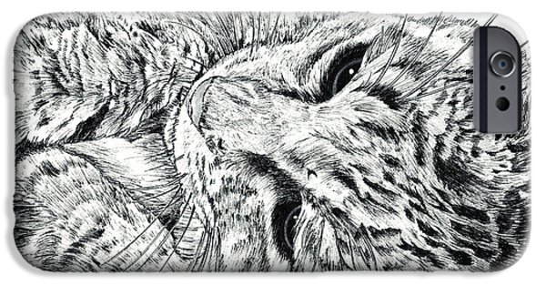 Kobe Drawings iPhone Cases - Awakening iPhone Case by Takahiro Yamada