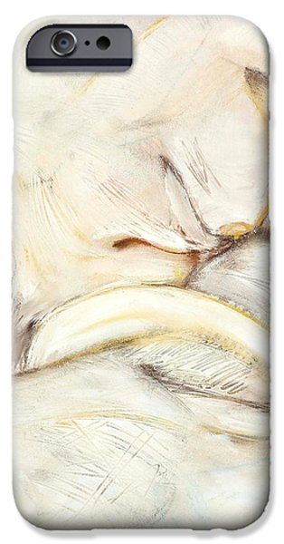 Contemplative Drawings iPhone Cases - Award Winning Abstract Nude iPhone Case by Kerryn Madsen-Pietsch