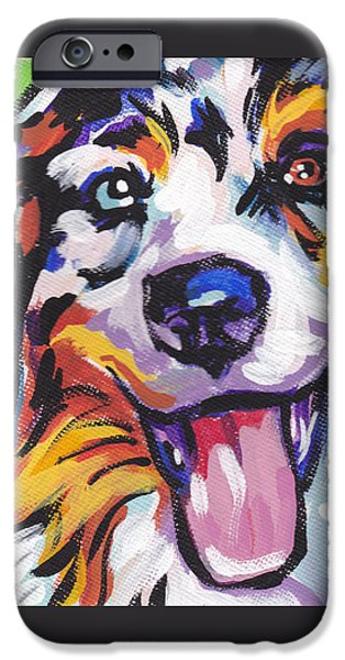 Recently Sold -  - Puppies iPhone Cases - Awesome Aussie iPhone Case by Lea