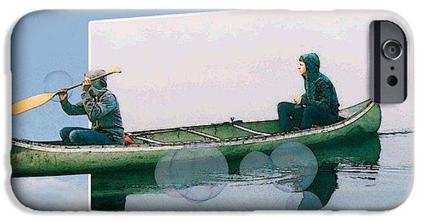 Canoe iPhone Cases - Awesome iPhone Case by iina  Van Lawick