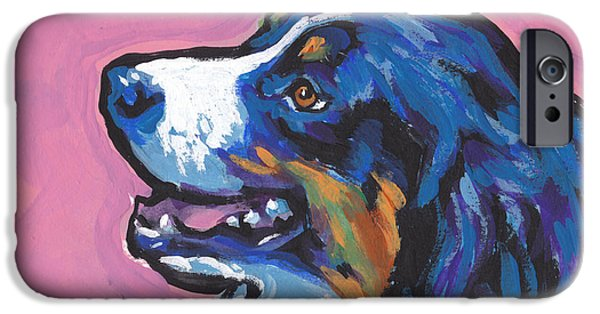 Fun Dog Art iPhone Cases - AWWW Seee iPhone Case by Lea