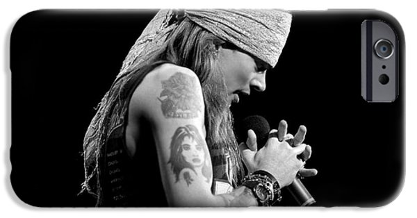 Axl Rose iPhone Cases - Axl Rose - Guns n Roses  9 iPhone Case by Vintage Rock Photos