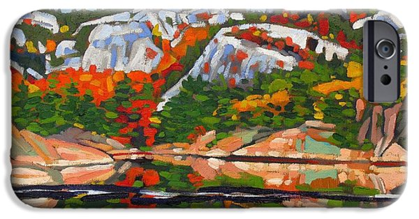 Young Paintings iPhone Cases - A.Y. Jackson Lake iPhone Case by Phil Chadwick