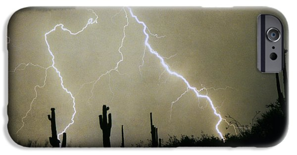 Photography Lightning iPhone Cases - AZ Desert Storm iPhone Case by James BO  Insogna