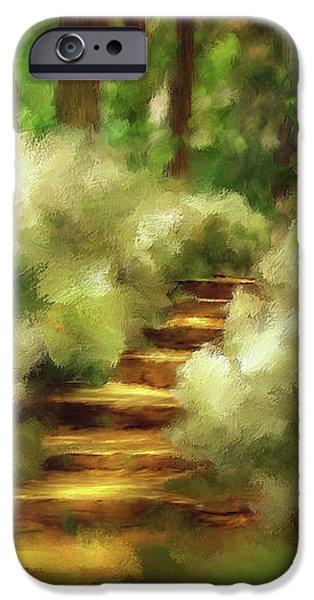 Azalea Stairs iPhone Case by Lois Bryan