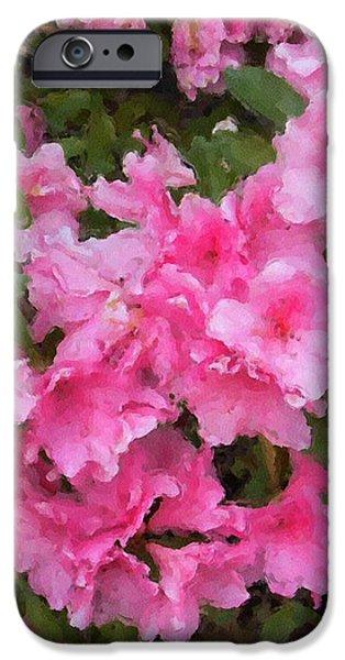 Azalea watercolor  iPhone Case by Fred Jinkins