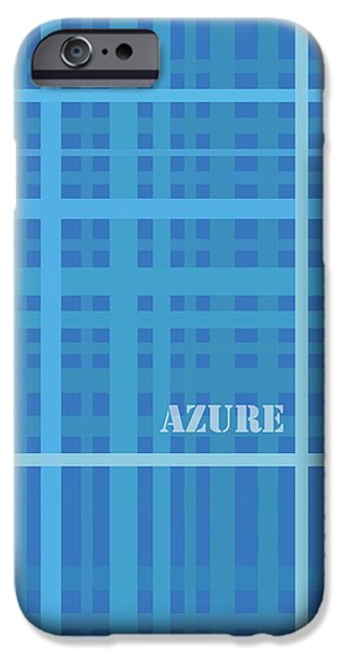 Azure Blue Abstract iPhone Case by Frank Tschakert