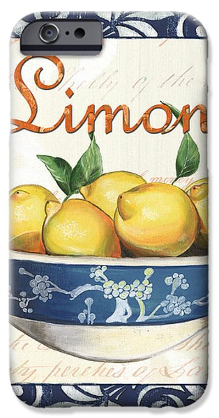 Azure Lemon 3 iPhone Case by Debbie DeWitt