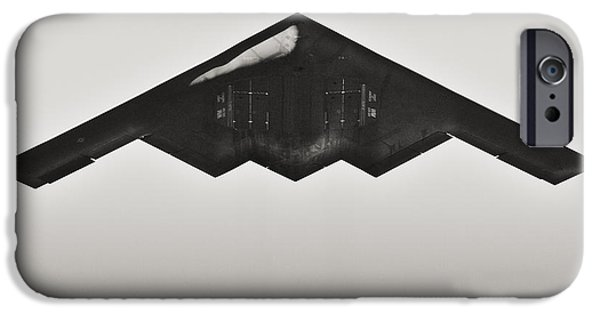 Weapon iPhone Cases - B-2 Spirit Stealth Bomber iPhone Case by Hsin Liu