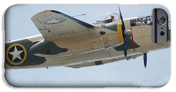 Killer B iPhone Cases - B-25 Mitchell WW II Bomber iPhone Case by Philip Hewitt