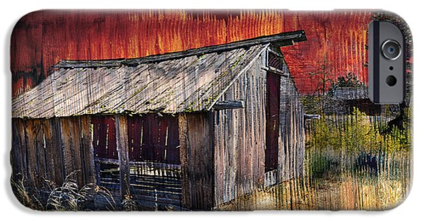 Old Barns iPhone Cases - B. C. Barns # 7076 iPhone Case by Ed Hall