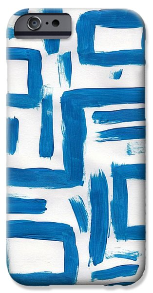 Abstract Digital Paintings iPhone Cases - B19 iPhone Case by Filipe Designs