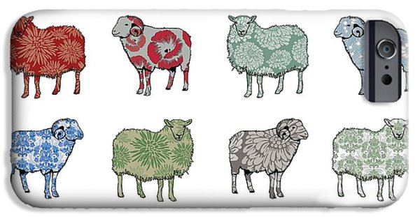 Sheep iPhone Cases - Baa Humbug iPhone Case by Sarah Hough