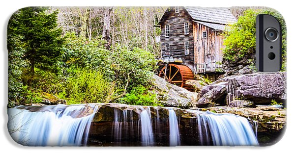 Grist Mill iPhone Cases - Babcock Grist Mill Spring iPhone Case by John  Willey