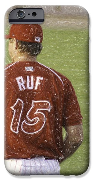 Babe Ruf iPhone Case by Trish Tritz