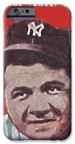 Babe Ruth iPhone Case by Paul Van Scott