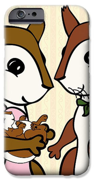 Baby Acorn iPhone Case by Christy Beckwith