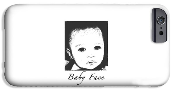 Innocence iPhone Cases - Baby Face iPhone Case by Terry Wallace