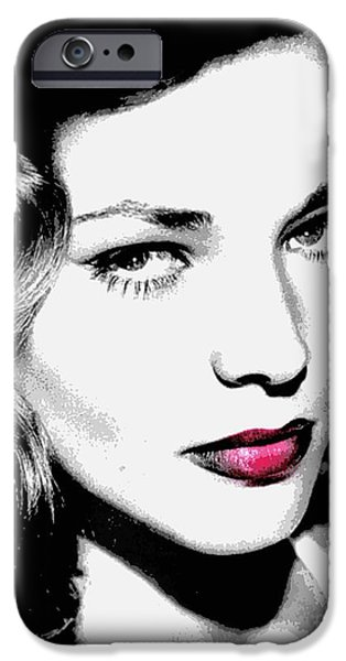 Bacall iPhone Case by WBK