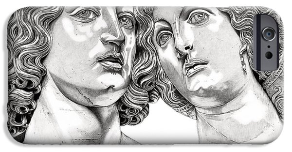 Mythological Reliefs iPhone Cases - Bacchus and Ariadne _V1 iPhone Case by Bruce Algra