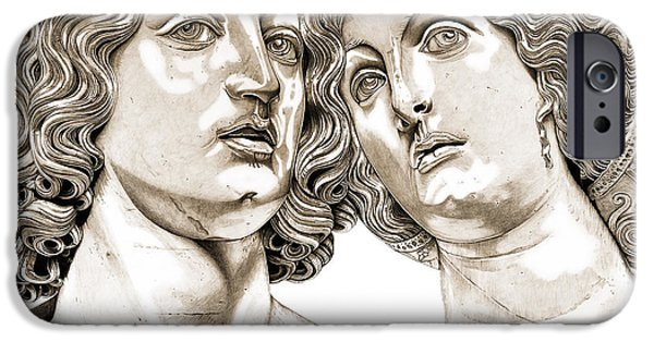 Mythological Reliefs iPhone Cases - Bacchus And Ariadne _v2 iPhone Case by Bruce Algra