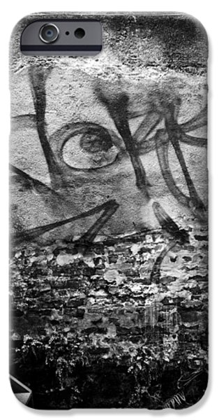 Graffito iPhone Cases - Back Alley Graffiti  iPhone Case by Dustin K Ryan